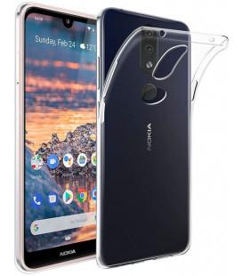 Skaidrus plonas 0,3mm silikoninis dėklas Nokia 4.2 telefonui