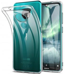 Skaidrus plonas 0,3mm silikoninis dėklas Nokia 7.2 telefonui