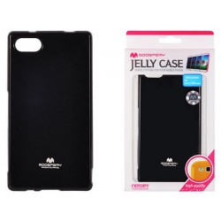 "Juodas dėklas Mercury Goospery ""Jelly Case"" Sony Xperia Z5 Compact telefonui"