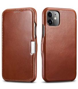 """Rudas odinis atverčiamas dėklas Apple iPhone 11 telefonui """"iCarer Vintage"""""""
