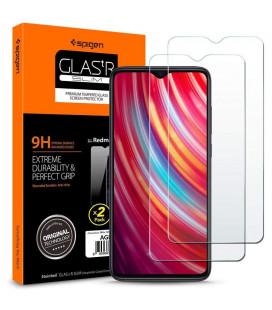 """Apsauginis grūdintas stiklas Xiaomi Redmi Note 8 Pro telefonui """"Spigen Glas tR Slim"""""""