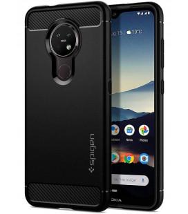 """Juodas dėklas Nokia 6.2 / 7.2 telefonui """"Spigen Rugged Armor"""""""
