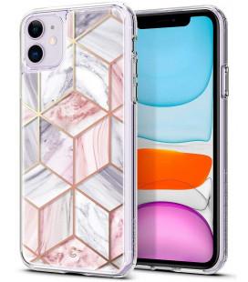 "Rožinis dėklas Apple iPhone 11 telefonui ""Spigen Ciel Etoile"""