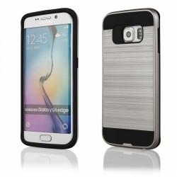 """Sidabrinės spalvos dėklas Samsung Galaxy S6 Edge G925 telefonui """"Motomo"""""""