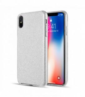 Dėklas Shine Huawei Y6 2019/Y6 Pro 2019 sidabrinis