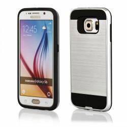 """Sidabrinės spalvos dėklas Samsung Galaxy S6 G920 telefonui """"Motomo"""""""