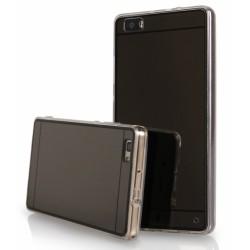 """Juodas silikoninis dėklas Huawei P8 Lite telefonui """"Mirror"""""""