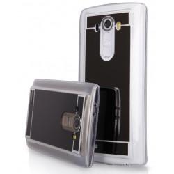 """Juodas silikoninis dėklas LG G4 H815 telefonui """"Mirror"""""""