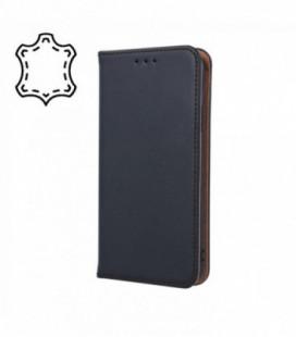 Dėklas iš natūralios odos Smart Pro Huawei Y6 2019/Y6 Pro 2019 juodas