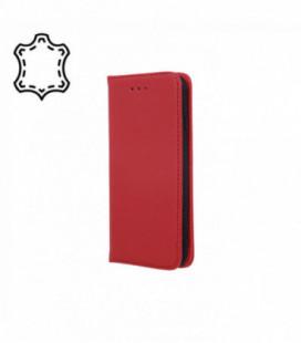 Dėklas iš natūralios odos Smart Pro Samsung A105 A10 bordo