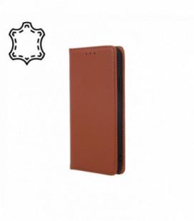 Dėklas iš natūralios odos Smart Pro Samsung A202 A20e rudas