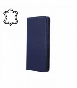 Dėklas iš natūralios odos Smart Pro Samsung A202 A20e tamsiai mėlynas