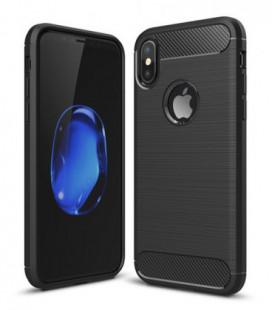 Dėklas Carbon Lux OnePlus 7 Pro juodas