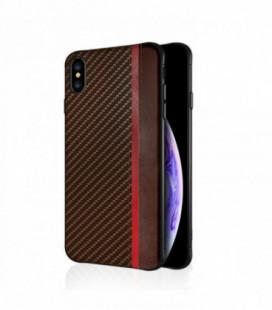 Dėklas Mulsae Carbon Apple iPhone XR rudas