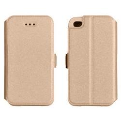 """Auksinės spalvos atverčiamas dėklas Samsung Galaxy A5 A500 telefonui """"Telone Book Pocket"""""""
