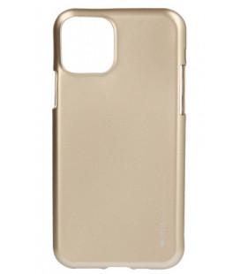 """Auksinės spalvos silikoninis dėklas Apple iPhone 11 telefonui """"Mercury iJelly Case Metal"""""""