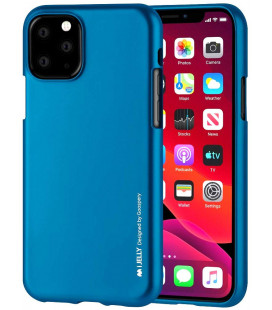 "Mėlynas silikoninis dėklas Apple iPhone 11 Pro Max telefonui ""Mercury iJelly Case Metal"""