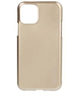 """Auksinės spalvos silikoninis dėklas Apple iPhone 11 Pro Max telefonui """"Mercury iJelly Case Metal"""""""