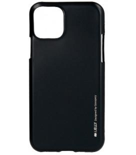 """Juodas silikoninis dėklas Apple iPhone 11 Pro Max telefonui """"Mercury iJelly Case Metal"""""""
