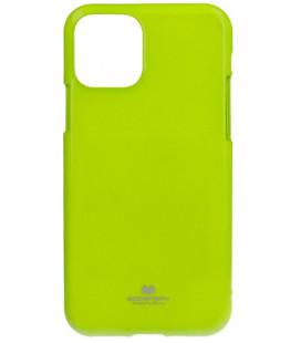 "Žalias silikoninis dėklas Apple iPhone 11 telefonui ""Mercury Goospery Pearl Jelly Case"""
