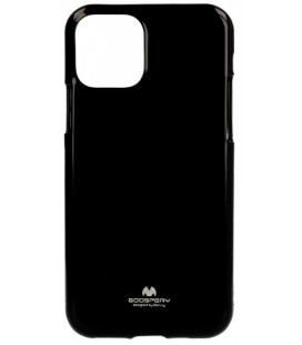 "Juodas silikoninis dėklas Apple iPhone 11 telefonui ""Mercury Goospery Pearl Jelly Case"""