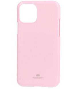 """Šviesiai rožinis silikoninis dėklas Apple iPhone 11 Pro Max telefonui """"Mercury Goospery Pearl Jelly Case"""""""