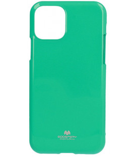 "Mėtos spalvos silikoninis dėklas Apple iPhone 11 Pro Max telefonui ""Mercury Goospery Pearl Jelly Case"""