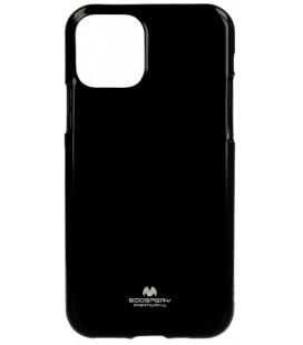"Juodas silikoninis dėklas Apple iPhone 11 Pro Max telefonui ""Mercury Goospery Pearl Jelly Case"""