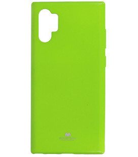 """Žalias silikoninis dėklas Samsung Galaxy Note 10 Plus telefonui """"Mercury Goospery Pearl Jelly Case"""""""