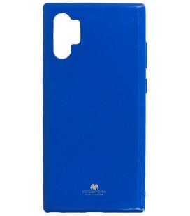 """Mėlynas silikoninis dėklas Samsung Galaxy Note 10 Plus telefonui """"Mercury Goospery Pearl Jelly Case"""""""