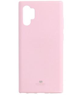 """Šviesiai rožinis silikoninis dėklas Samsung Galaxy Note 10 Plus telefonui """"Mercury Goospery Pearl Jelly Case"""""""