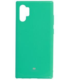 """Mėtos spalvos silikoninis dėklas Samsung Galaxy Note 10 Plus telefonui """"Mercury Goospery Pearl Jelly Case"""""""