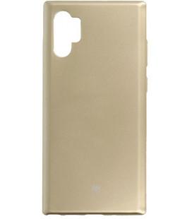 """Auksinės spalvos silikoninis dėklas Samsung Galaxy Note 10 Plus telefonui """"Mercury Goospery Pearl Jelly Case"""""""