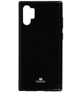 """Juodas silikoninis dėklas Samsung Galaxy Note 10 Plus telefonui """"Mercury Goospery Pearl Jelly Case"""""""