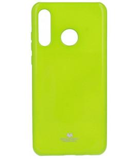 """Žalias silikoninis dėklas Huawei P30 Lite telefonui """"Mercury Goospery Pearl Jelly Case"""""""