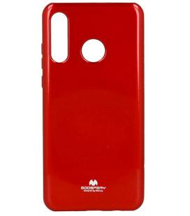 """Raudonas silikoninis dėklas Huawei P30 Lite telefonui """"Mercury Goospery Pearl Jelly Case"""""""