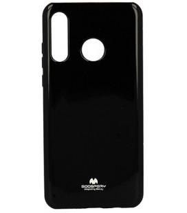 """Juodas silikoninis dėklas Huawei P30 Lite telefonui """"Mercury Goospery Pearl Jelly Case"""""""
