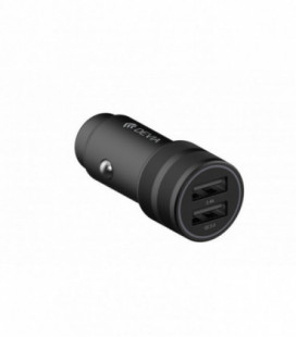 Įkroviklis automobilinis Devia Traveller su 2 USB jungtimis (Quick Charge 3.0+USB 2.4A) juodas