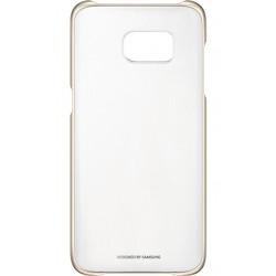 """Originalus auksinės spalvos dėklas """"Clear Cover"""" Samsung Galaxy S7 Edge telefonui ef-qg935cfe"""