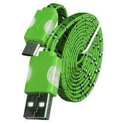 Micro USB laidas su LED pašvietimu - Žalias