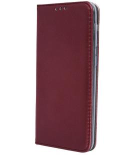 """Raudonas (Vyno) atverčiamas dėklas Xiaomi Redmi Note 8 Pro telefonui """"Smart Magnetic"""""""