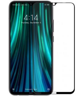 """5D Lenktas juodas apsauginis grūdintas stiklas Xiaomi Redmi Note 8T telefonui """"Full Glue"""""""