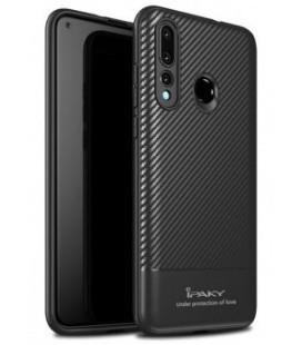 """Juodas dėklas Huawei P30 Lite telefonui """"iPaky Carbon Fiber"""""""
