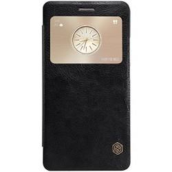 """Odinis juodas atverčiamas dėklas Huawei Mate S telefonui """"Nillkin Qin"""""""