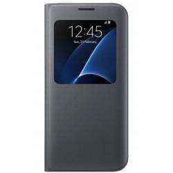 """Originalus atverčiamas juodas dėklas """"S View Cover"""" Samsung Galaxy S7 Edge telefonui ef-cg935pbe"""
