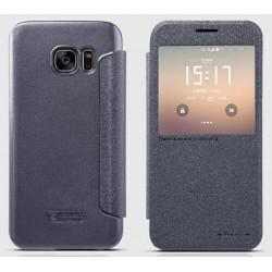 """Atverčiamas juodas dėklas Samsung Galaxy S7 G930 Telefonui """"Nillkin Sparkle S-View"""""""