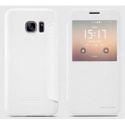 """Atverčiamas baltas dėklas Samsung Galaxy S7 G930 Telefonui """"Nillkin Sparkle S-View"""""""