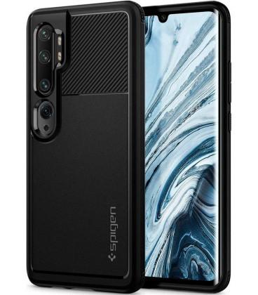 "Juodas dėklas Xiaomi Mi Note 10 telefonui ""Spigen Rugged Armor"""