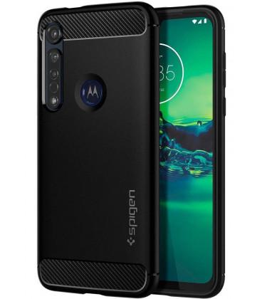 """Juodas dėklas Motorola Moto G8 Plus telefonui """"Spigen Rugged Armor"""""""
