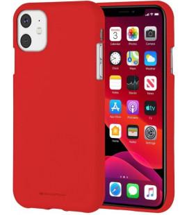 "Raudonas silikoninis dėklas Apple iPhone 11 telefonui ""Mercury Soft Feeling"""